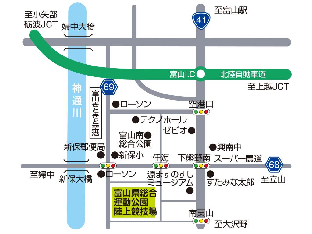 スタジアムアクセス地図