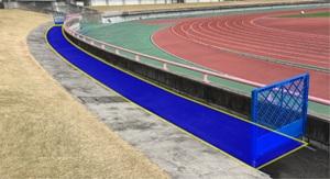 ホームゴール裏での大旗使用